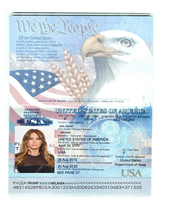 Poorly edited passport
