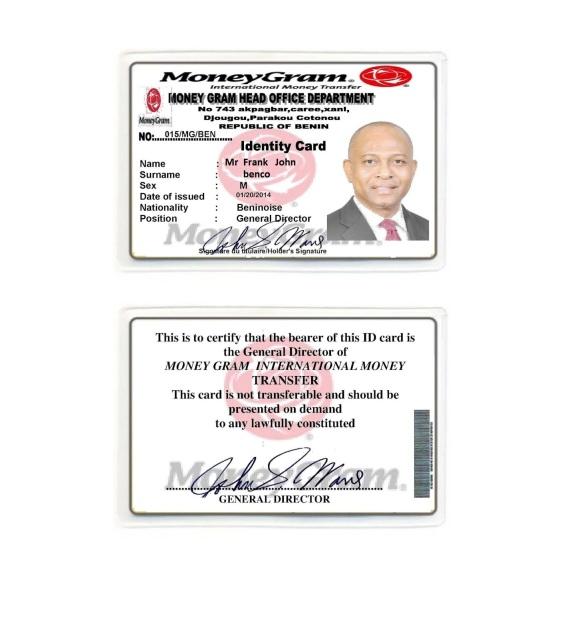 Mr. Frank John's ID